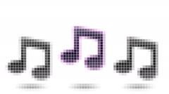 Musical note. Looping. Stock Footage