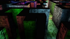 4K Mysterious Fantasy Enigmatic Maze Labyrinth 3D Animation 14 - stock footage