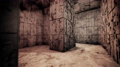 4K Mysterious Fantasy Enigmatic Maze Labyrinth Vintage 3D Animation 1 Stock Footage