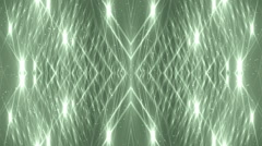 VJ Fractal green kaleidoscopic background. Stock Footage