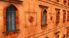 4K Fancy European Style Building Windows Facade 3D Animation 1 Stock Footage
