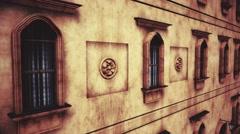 4K Fancy European Style Building Windows Facade 3D Animation 2 - stock footage
