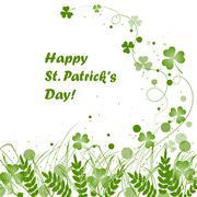 St Patricks Day background Stock Illustration