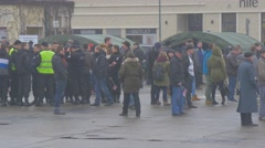 Crowd on a Square Opole Poland Atlantic Resolve Operation Military Vehicles and Stock Footage