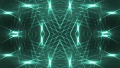 VJ Fractal neon kaleidoscopic background. - stock footage