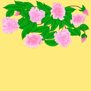 cherry blossoms - stock illustration