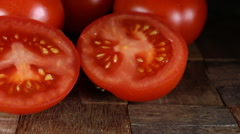 Fresh organic red tomatoes Stock Footage