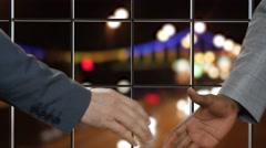 Businessmen shake hands. Stock Footage