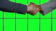 Handshake on background hromakey. Stock Footage