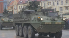 Panzers Stopped at the Parade Opole Poland Atlantic Resolve Operation Military Stock Footage