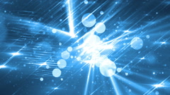 Moving gloss particles on blue background. - stock footage
