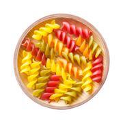 Gluten free corn and vegetable pasta spirals macaroni - stock photo