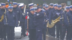 Military Orchestra During Break Parade in Opole Poland Atlantic Resolve Stock Footage