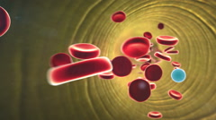 Cholesterol in a blood Stock Footage