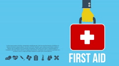 First aid kit concept footage Stock Footage