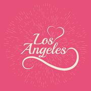 Made with love in Los Angeles Stock Illustration