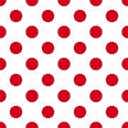 Red dotes seamless Stock Illustration