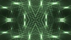 VJ Fractal green kaleidoscopic background. - stock footage