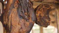 Ham Smoked and dried HH Stock Footage