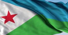 Ultra realistic looping flag: Djibouti Stock Footage