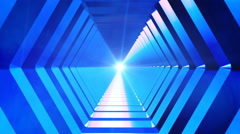 Broadcast Endless Hi-Tech Tunnel 09 - stock footage