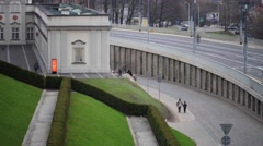 Copper-Roof Palace in Warsaw, Poland Stock Footage