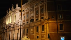 Basilica of Saint Mary Major in Rome, Italy Stock Footage