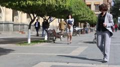 Armenia Yerevan Urban Detail - stock footage