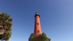 Florida PonceDeLeon Inlet Lighthouse 01 Stock Footage