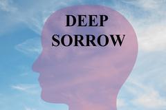 Deep Sorrow concept - stock illustration