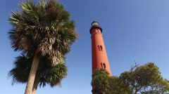 Florida PonceDeLeon Inlet Lighthouse 05 Stock Footage