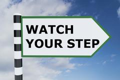 Watch Your Step concept Stock Illustration