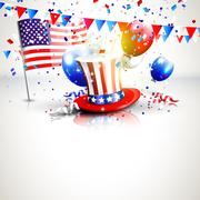 4th of July Stock Illustration