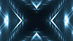 VJ Fractal blue kaleidoscopic background. Stock Footage