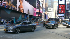 New York City traffic, busy street in Manhattan, NY Stock Footage