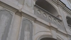 Panorama of Wall Archs Carmelites Monastery Berdichev Protective Walls Baroque - stock footage