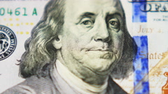 Us 100 Dollar Bill. Money / Finance Stock Footage
