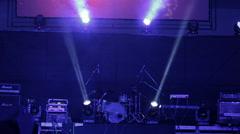 Flashing lights background. Flares lights flashing. Lighting spotlights on the s Stock Footage