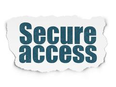 Safety concept: Secure Access on Torn Paper background - stock illustration