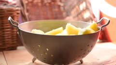 Potatoes Steaming In a Colander Stock Footage