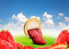 Human tongue - stock photo