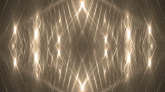 VJ Fractal gold kaleidoscopic background. - stock footage