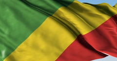 Ultra realistic looping flag: Congo Brazzaville Stock Footage
