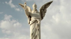 Angel Statue Against a Blue Sky Stock Footage