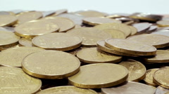 Falling coins abstract background Stock Footage