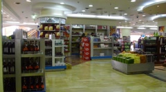 duty free area in airport  - stock footage