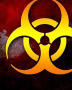 Bio hazard sign on a grunge background Stock Illustration
