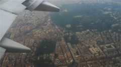 Plane flies over Italy on approaching Rome. Stock Footage