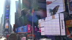 Times Square billboards, Manhattan, New York City - stock footage