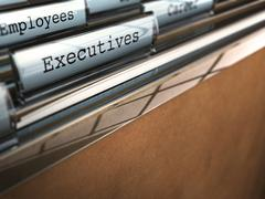 company staff - stock illustration